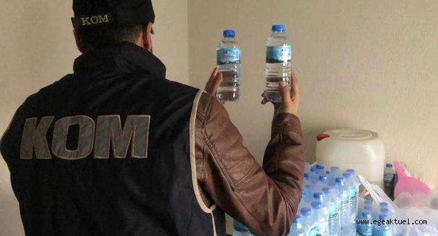 İzmir'de yılbaşı öncesi sahte içki operasyonu