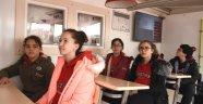 Aliağalı öğrenciler deprem anını yaşadı