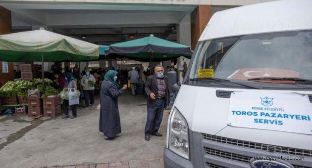 Toros Kapalı Pazaryerine ulaşıma ücretsiz servis çözümü